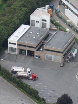 separierte Bereiche der Tankwagen-Reinigung